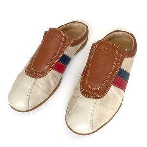 Coach Clogs Mules Two Tong Leather Slip On Shoes 8